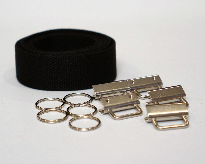 Black Wristlet Key Fob Kit - 5 Sets