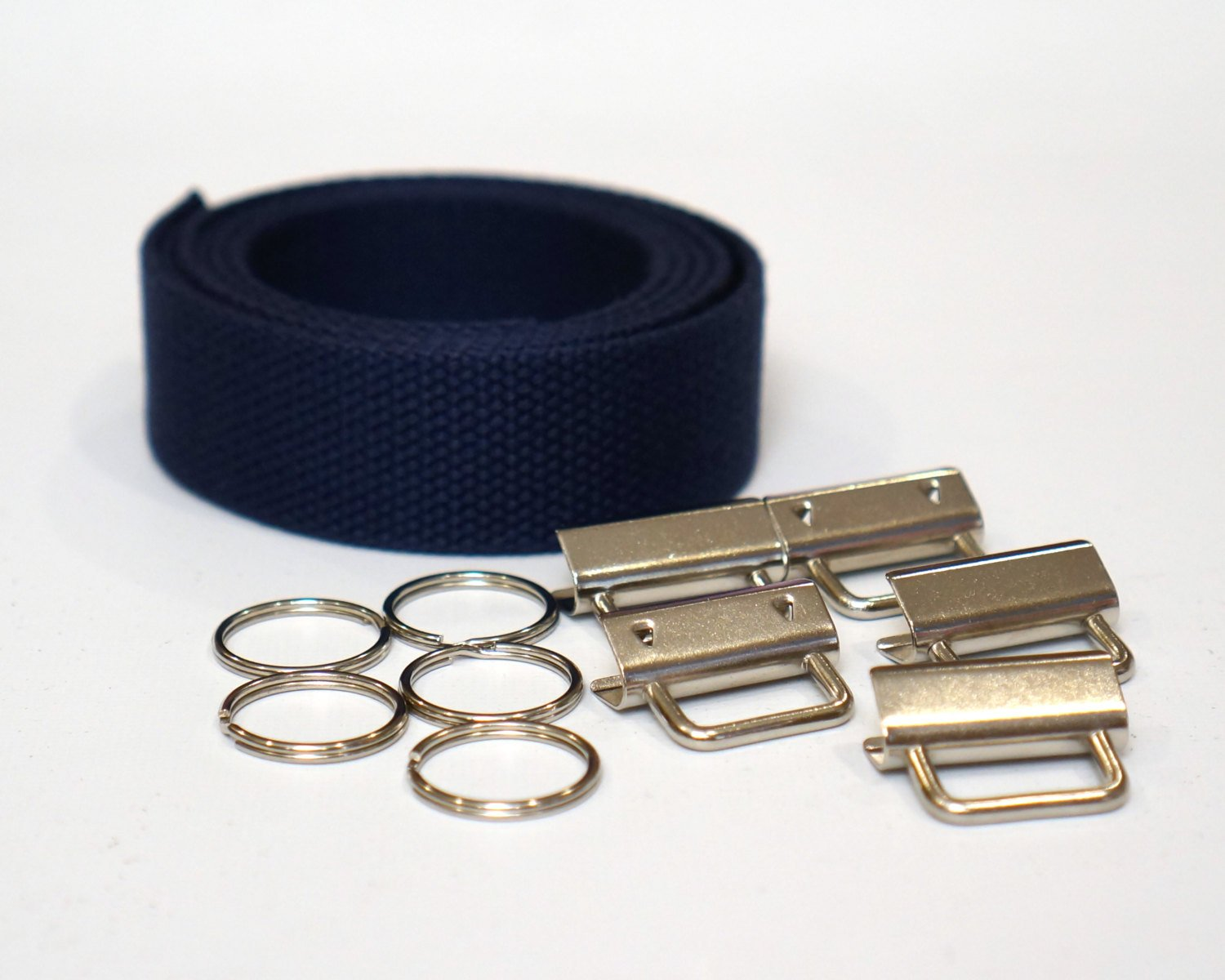 Navy Wristlet Key Fob Kit - 5 Sets