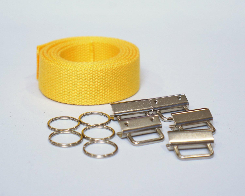 Yellow Wristlet Key Fob Kit - 5 Sets