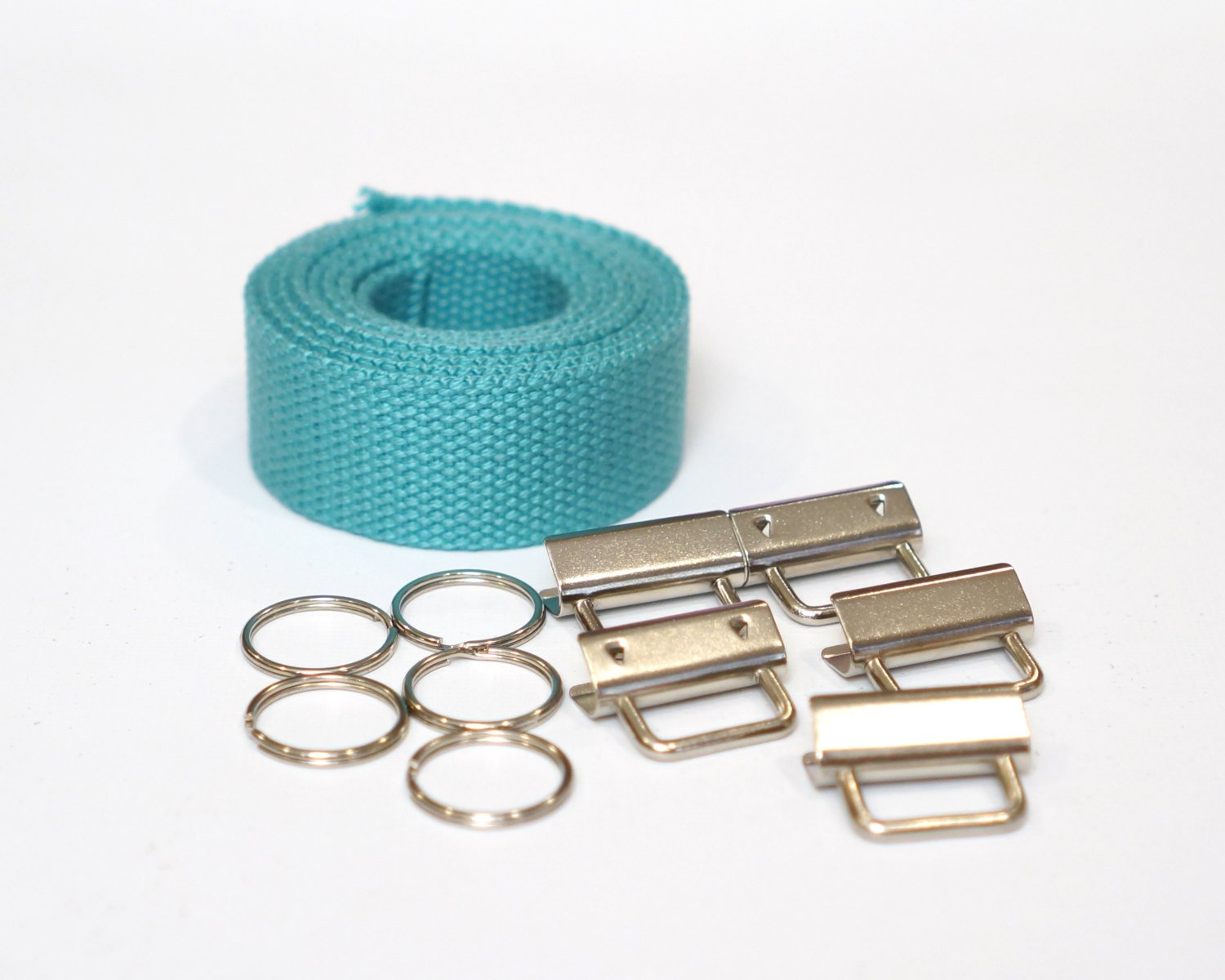 Aqua Wristlet Key Fob Kit - 5 Sets
