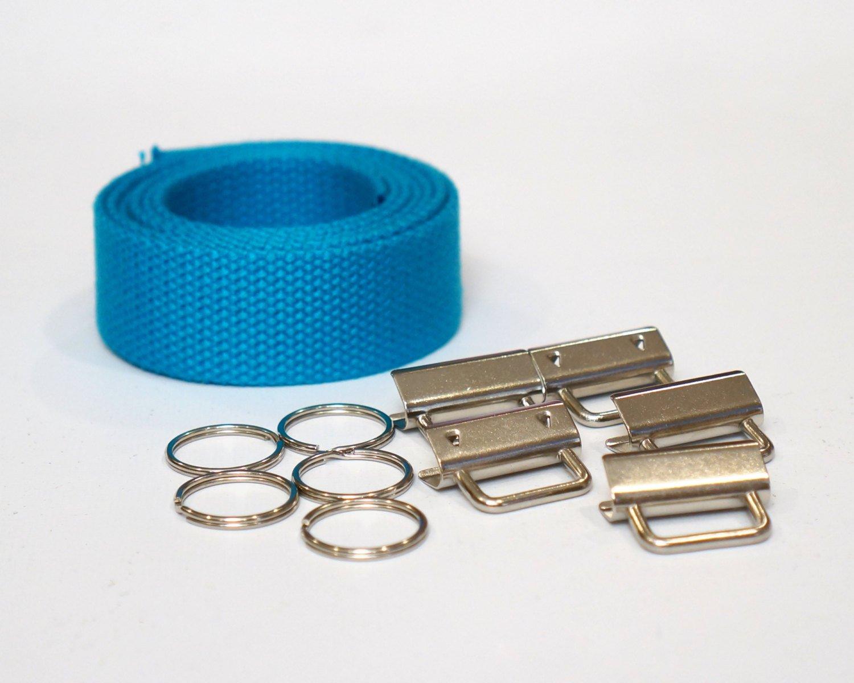Turquoise Wristlet Key Fob Kit - 5 Sets