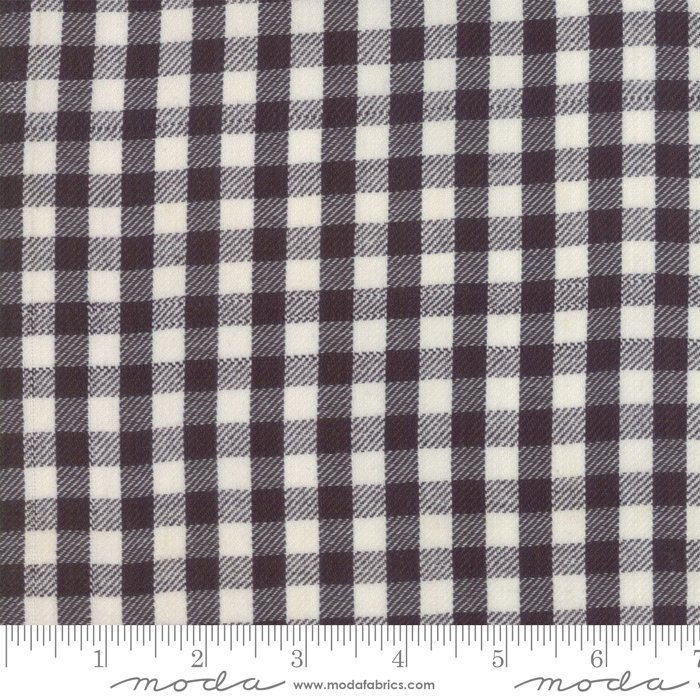 Urban Cottage Check Black Ivory 31135 14 by Urban Chiks for Moda Wovens