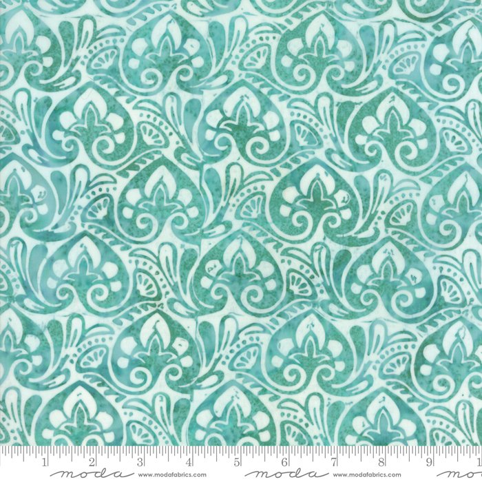 Longitude Batiks Turquoise (27259 102) from Kate Spain for Moda