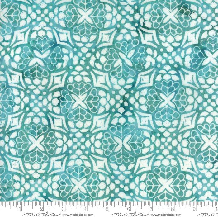Longitude Batiks Turquoise (27259 152) from Kate Spain for Moda