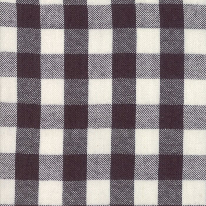 Urban Cottage Hound Ivory Black Check 31135 13 by Urban Chiks for Moda Wovens