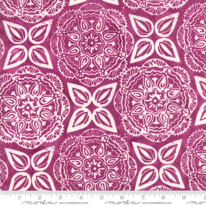 Longitude Batiks Magenta (27259 43) from Kate Spain for Moda