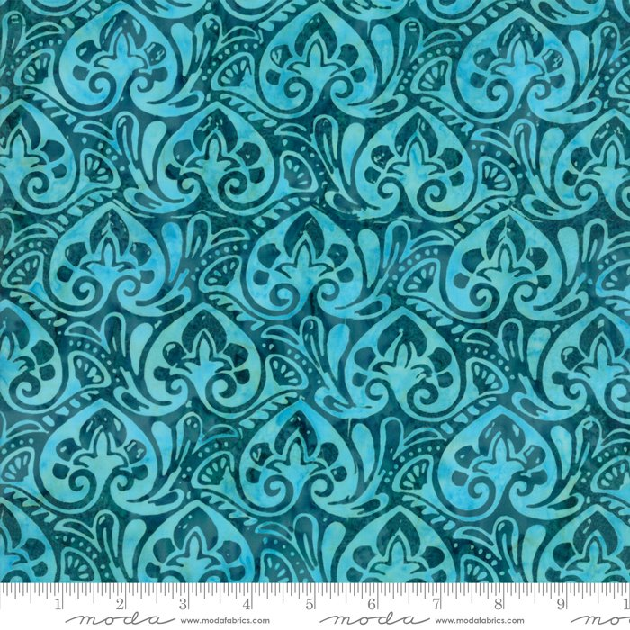 Longitude Batiks Teal (27259 180) from Kate Spain for Moda
