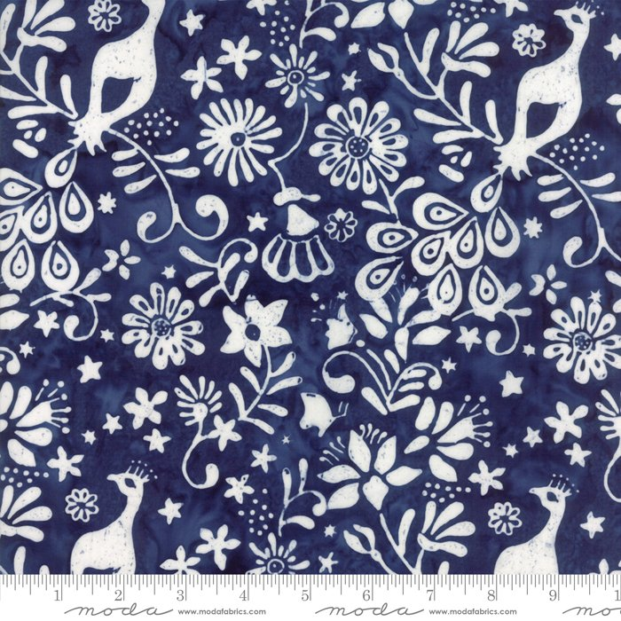 Longitude Batiks Deep Blue (27259 73) from Kate Spain for Moda