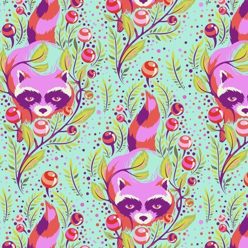 1.5 Yards - All Stars in Raccoon Poppy by Tula Pink for FreeSpirit Fabrics