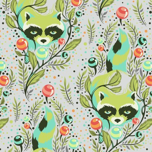All Stars in Raccoon Agave by Tula Pink for FreeSpirit Fabrics