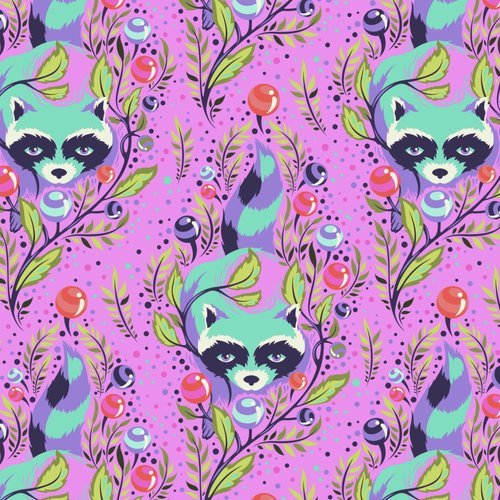 All Stars in Raccoon Fuschia by Tula Pink for FreeSpirit Fabrics