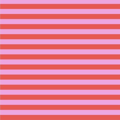 27 REMNANT - Tent Stripes in Poppy by Tula Pink for FreeSpirit Fabrics