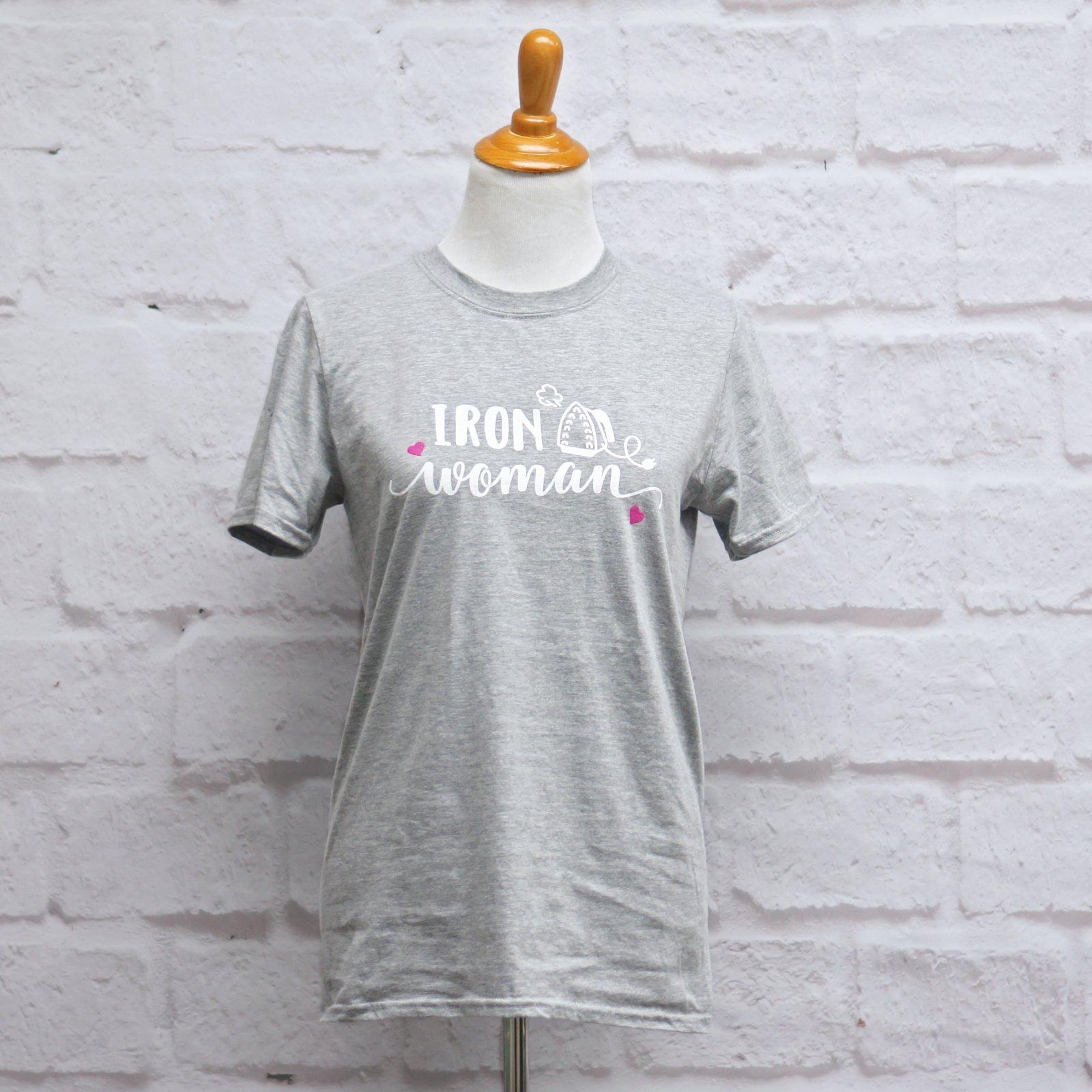 Crosscut T-Shirt - Iron Woman - Heather Gray