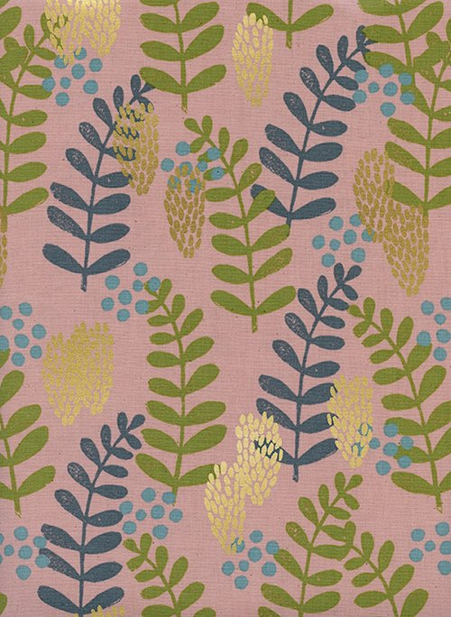 Imagined Landscapes in Fern Dell Rose Gold for Cotton + Steel