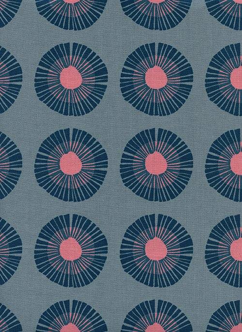 1 Yard 4 REMNANT - Imagined Landscapes in Seaside Daisy Slate for Cotton + Steel