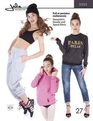 Jalie Patterns Sweatshirt, Hoodie & Sweat Pants #3355