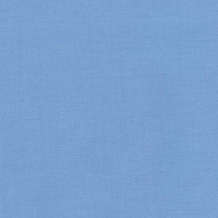 1 YARD 7 REMNANT - Kona Cotton Candy Blue K001-1060 from Robert Kaufman