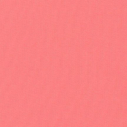 31 REMNANT - Kona Cotton Pink Flamingo K001-629 from Robert Kaufman