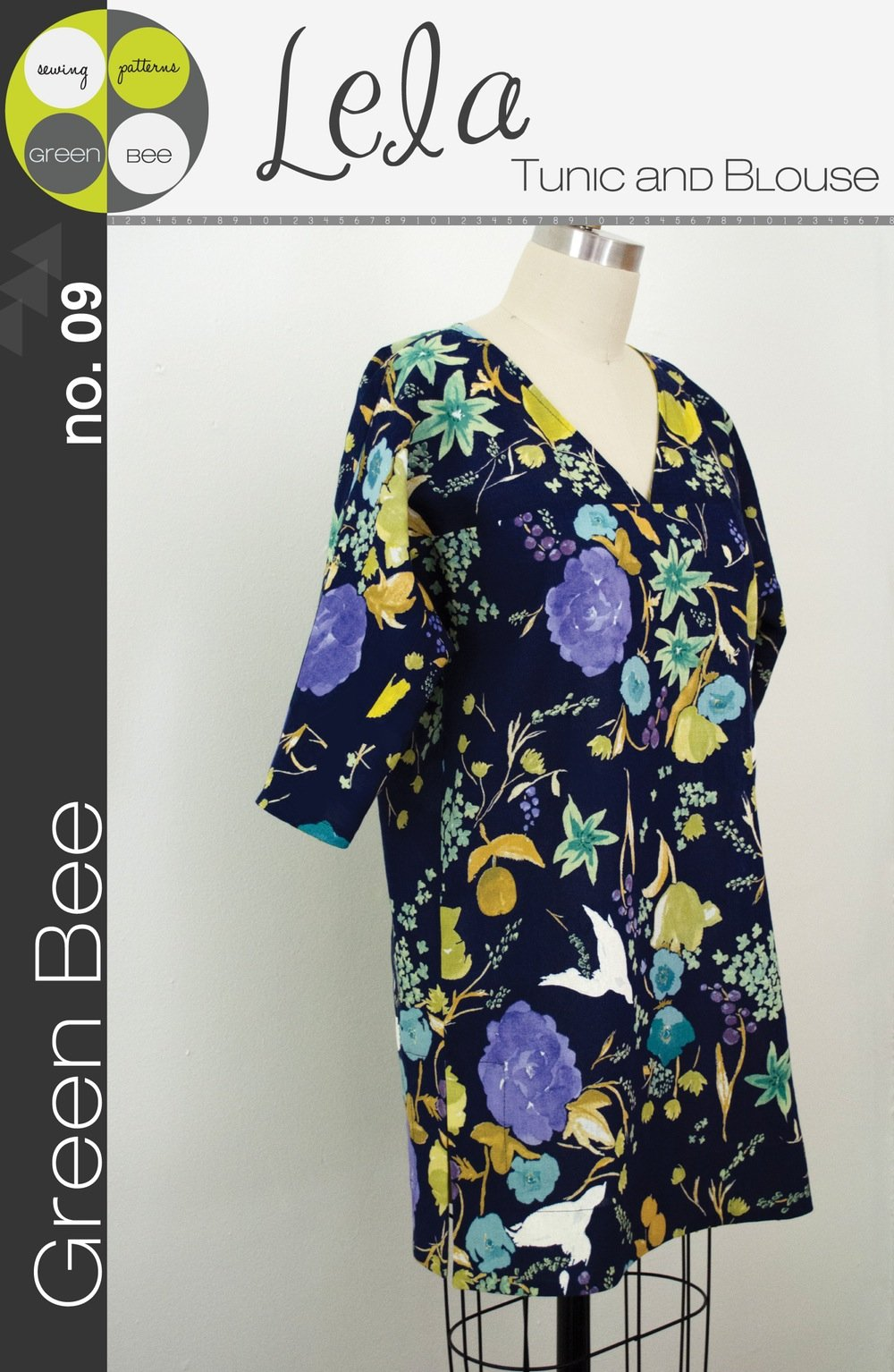Lela Tunic Blouse Ladies by Green Bee Patterns