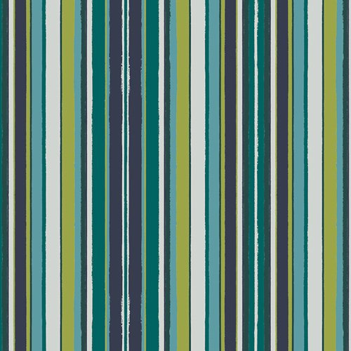 Loved to Pieces in Striped Flow Marine by Mister Domestic for Art Gallery Fabrics