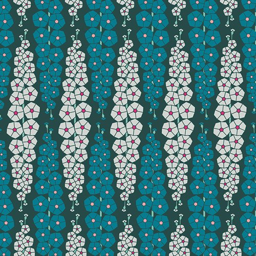 Loved to Pieces in Gladiolumns Inbluem by Mister Domestic for Art Gallery Fabrics