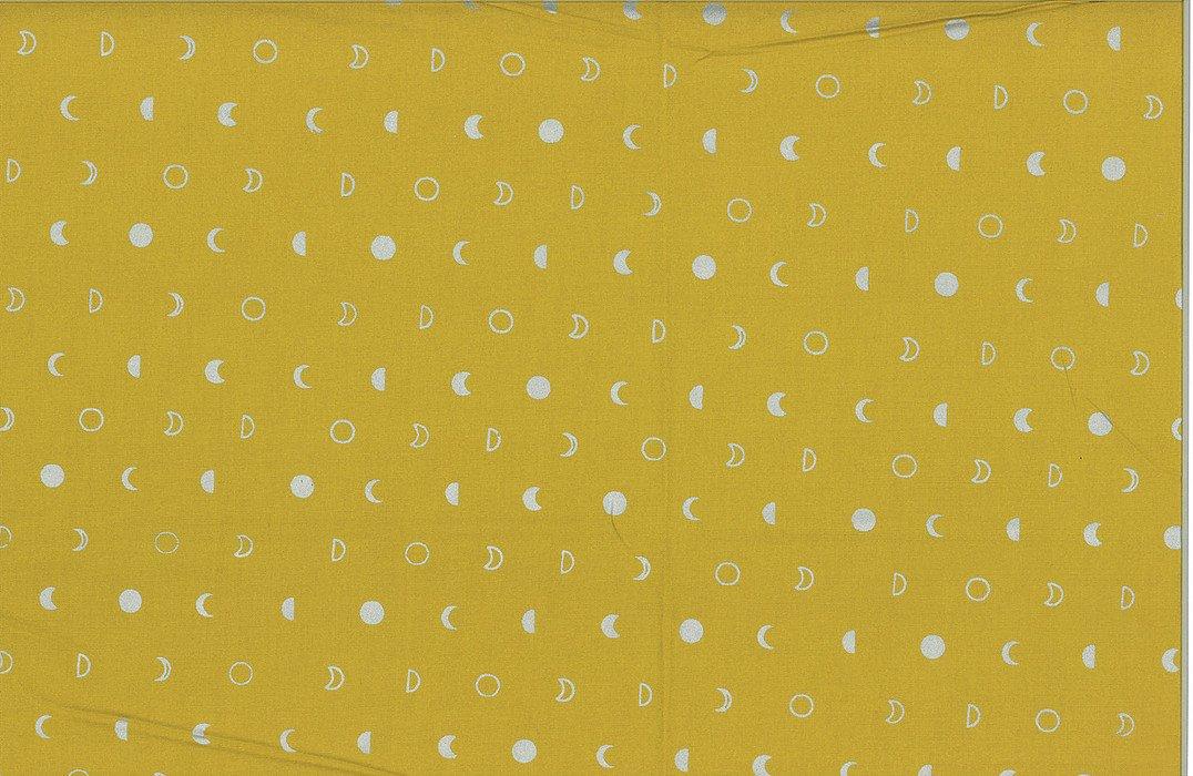 Hoffman Hand Dyed Batiks Moons Mustard/Silver