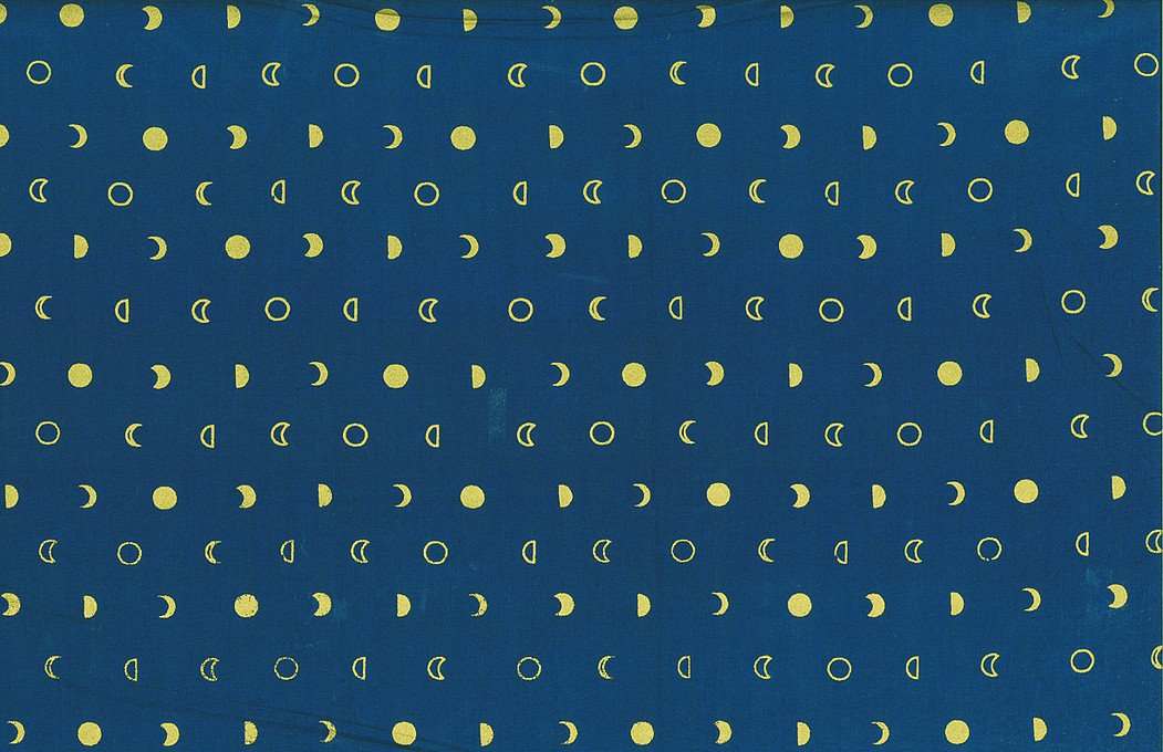 Hoffman Hand Dyed Batiks Moons Navy/Gold