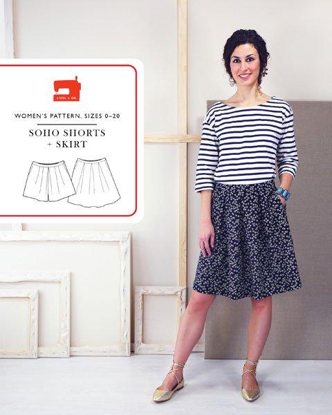 Liesl + Co. Soho Shorts + Skirt Sewing Pattern