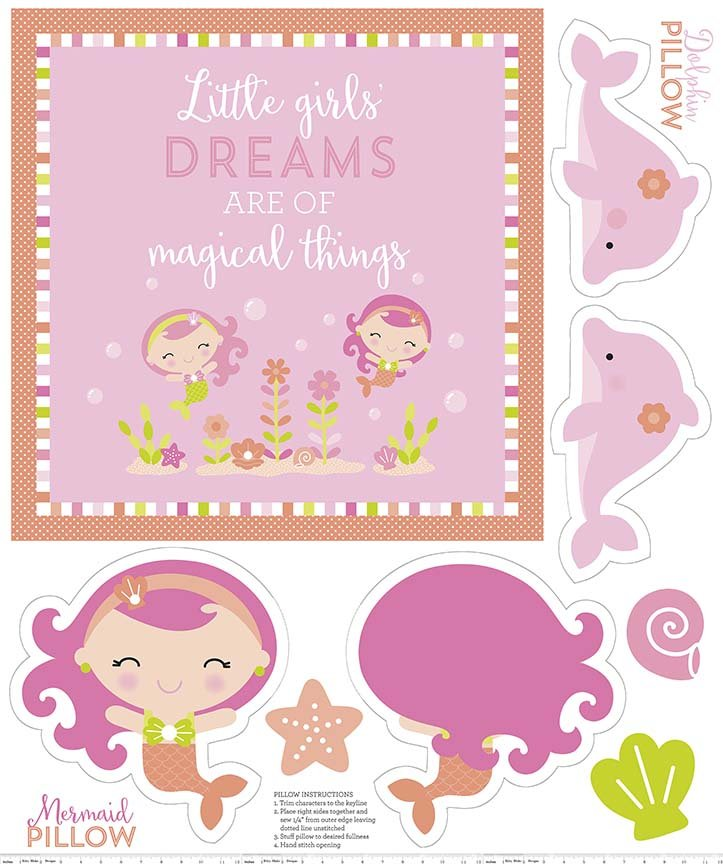 Under the Sea Panel in Pink by Doodlebug Design for Riley Blak
