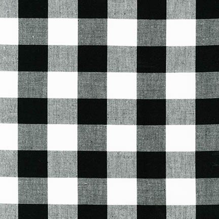 Carolina Gingham 1 in Black by Robert Kaufman