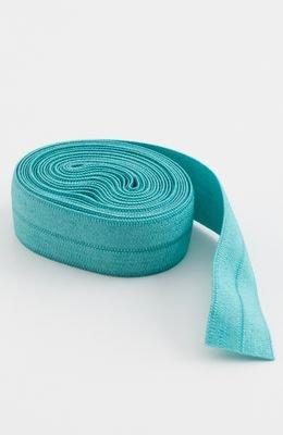 5/8 foldover elastic, 2 yds turquoise