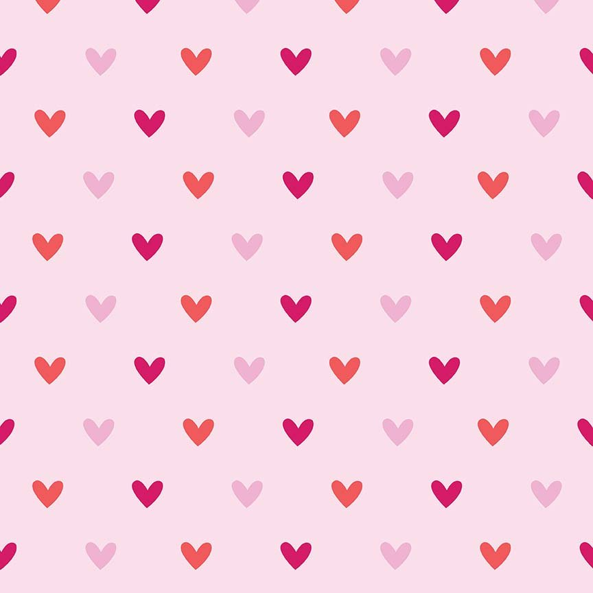 Doodlebug Design FLANNEL in Hearts Pink for Riley Blake
