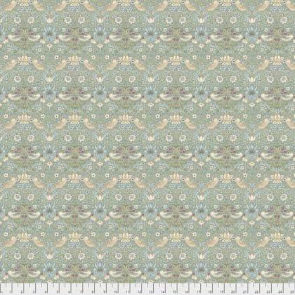 1 Yard 17 REMNANT - Mini Strawberry Thief Aqua from Morris & Co. Kelmscott for Freespirit Fabrics