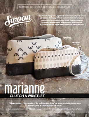 Marianne Clutch & Wristlet Pattern from Swoon Sewing Patterns