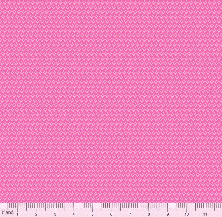 1 Yard 21 - Tutti Fruitti ZEST PINK by Maude Asbury from Blend Fabrics