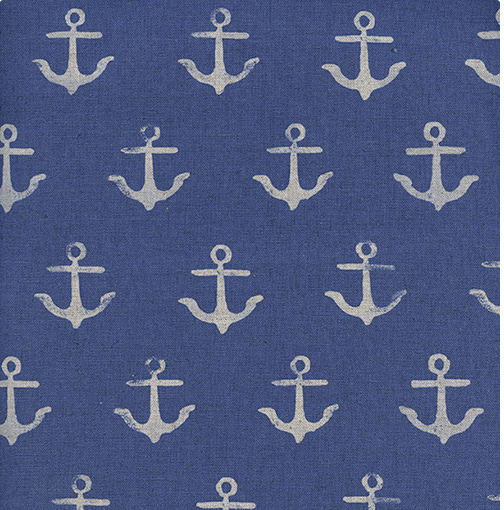 S.S. Bluebird in Anchor Blue LINEN by Collaborative from Cotton and Steel