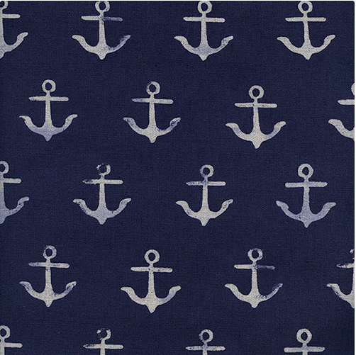 S.S. Bluebird in Anchor Navy LINEN by Collaborative from Cotton and Steel