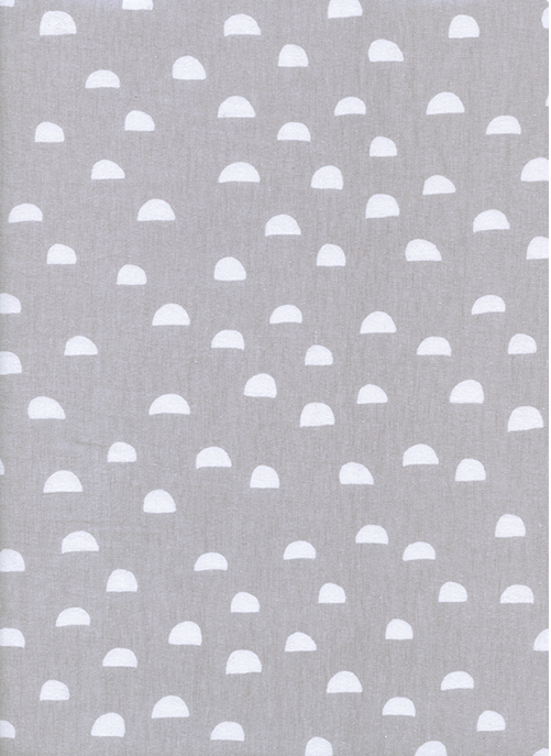 Cotton + Steel KNITS - Dress Shop Moons in Fog by Alexia Abegg