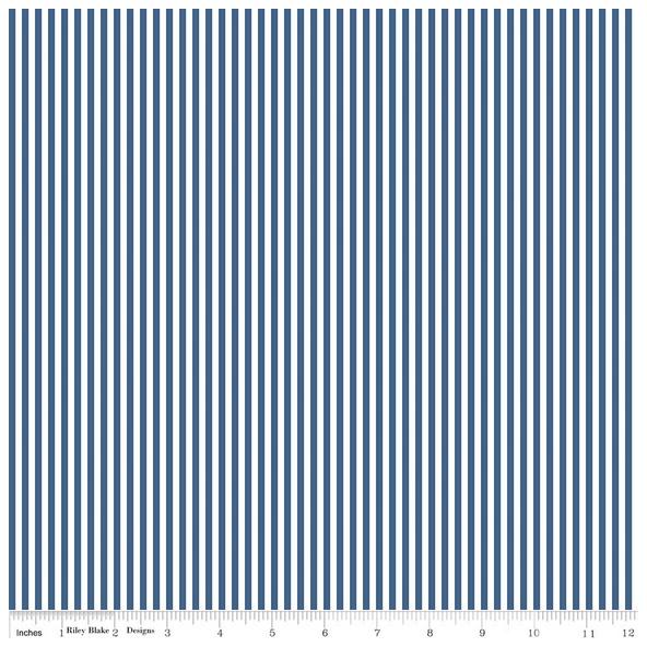 Stripe 1/8 Inch DENIM by Riley Blake Designs