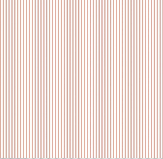 1 YARD 3 - REMNANT - Small Stripe SPARKLE ROSE GOLD by Riley Blake Designs