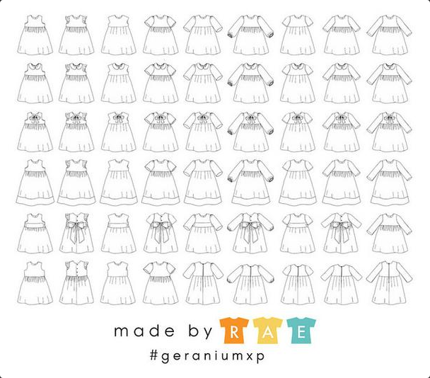Made By Rae Sewing Pattern  - Geranium Expansion Pack (0-12years)