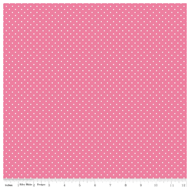 White Swiss Dots on Hotpink from Riley Blake
