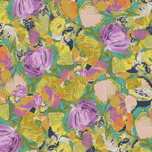 2 YARD 13 REMNANT - Cactus Flora Lily from Sage - Bari J. for Art Gallery Fabric