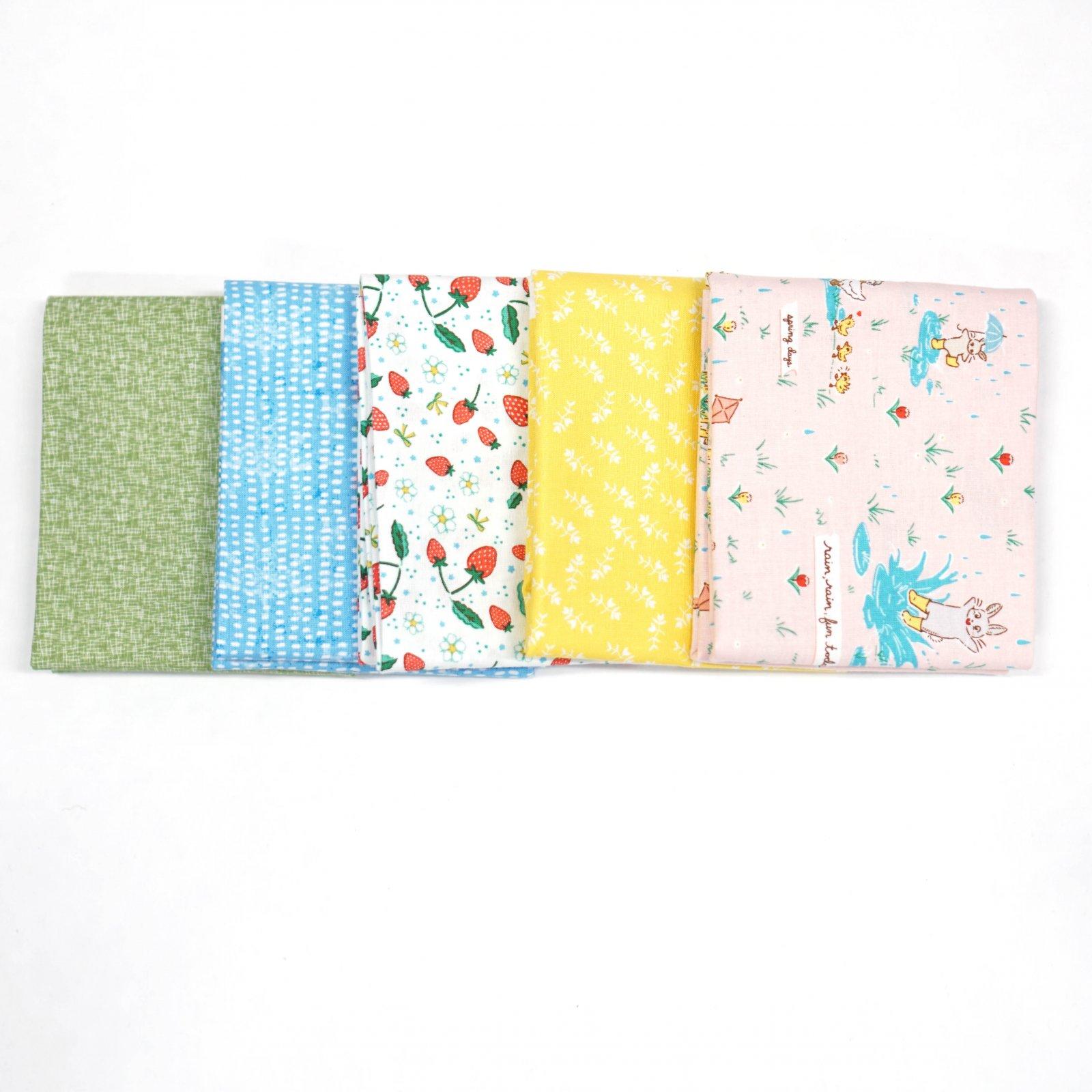 April Rains... - Crosscut Sewing Custom Bundle - (5) Half Yards