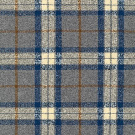 Mammoth Flannel STEEL SRKF-14884-185 from Robert Kaufman