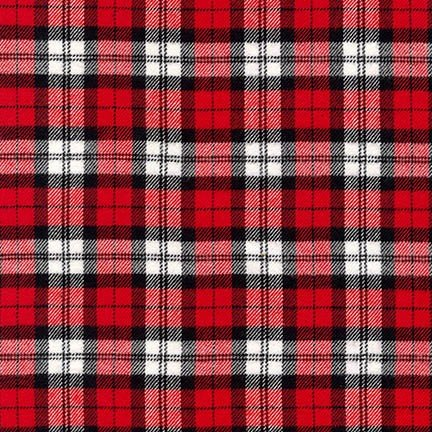 Highlander Flannel RED from Robert Kaufman - SRKF-16936-3