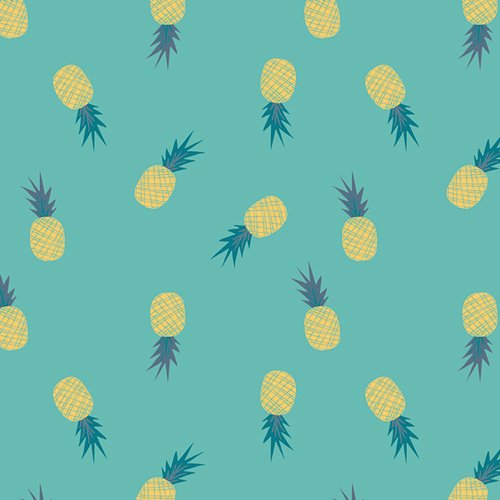 2 YARD 6 REMNANT - Ananas Aqua from Sirena by Jessica Swift for AGF
