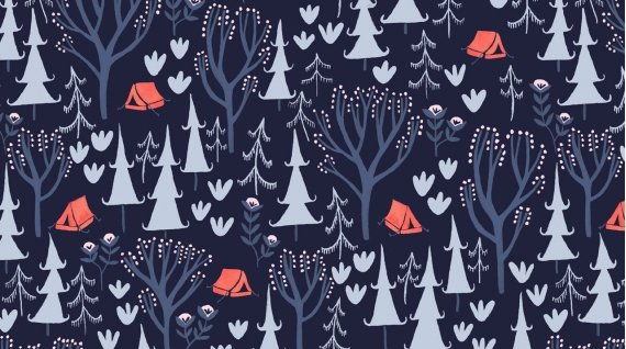 32 REMNANT Trail Mix - Trail Mix NAVY from Dear Stella