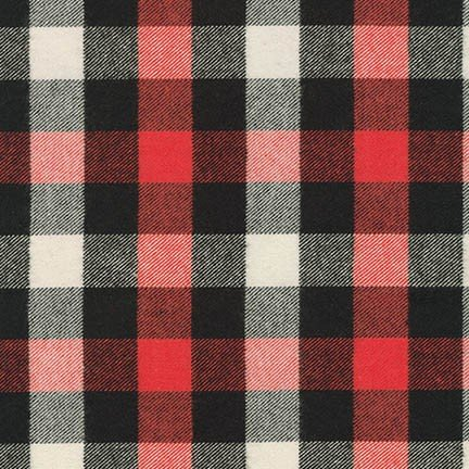 Tahoe Flannel RED from Robert Kaufman - SRKF-16412-3
