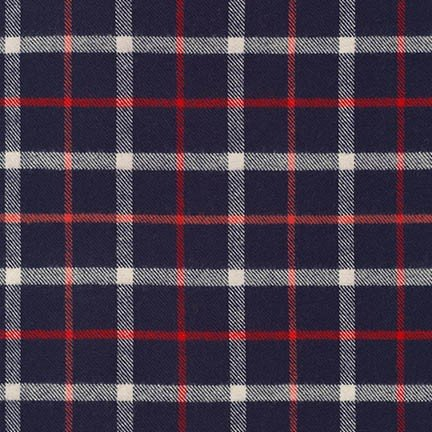 Tahoe Flannel NAVY from Robert Kaufman - SRKF-16413-9